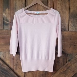 NEW YORK & CO. Pink Pullover Crew Neck Sweater
